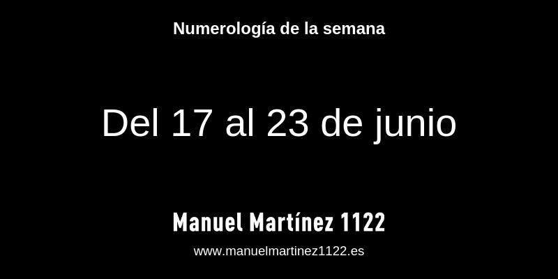 Numerologia junio 2019 - Blog de Manuel Martínez