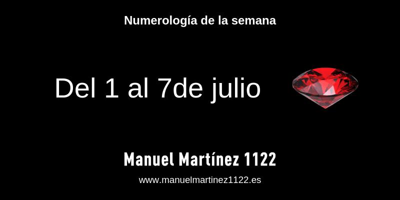 Numerología Julio 2019 - mes del rubí - Manuel Martínez Blog