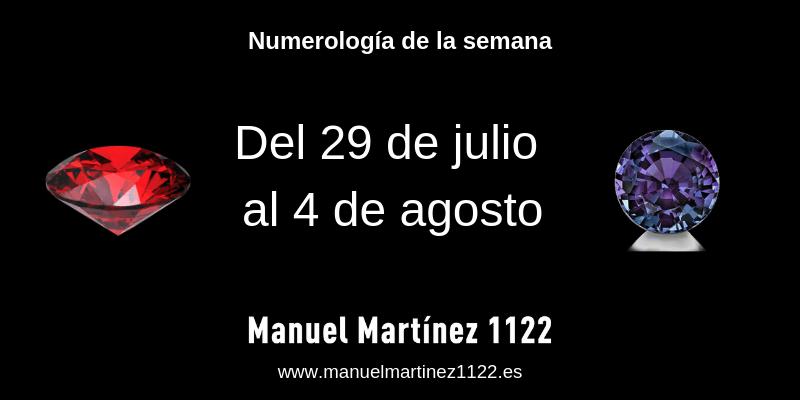 numerología. tu numero de la semana. Manuel Martínez