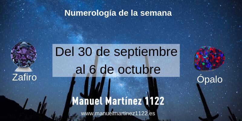 Numerología del 30 de septiembre al 6 de octubre