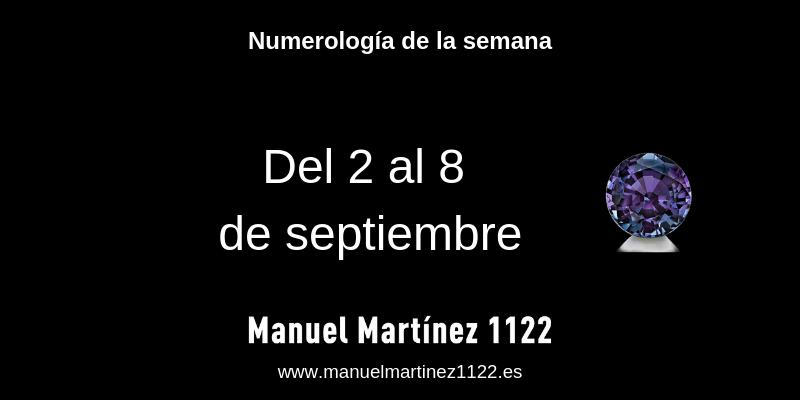 Numerología de la semana del 2 al 8 de septiembre