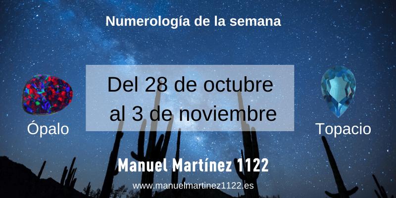 Numerología de la semana: Del 28 de octubre al 3 de noviembre