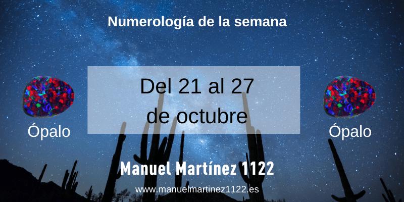 Numerología del 21 al 27 de octubre