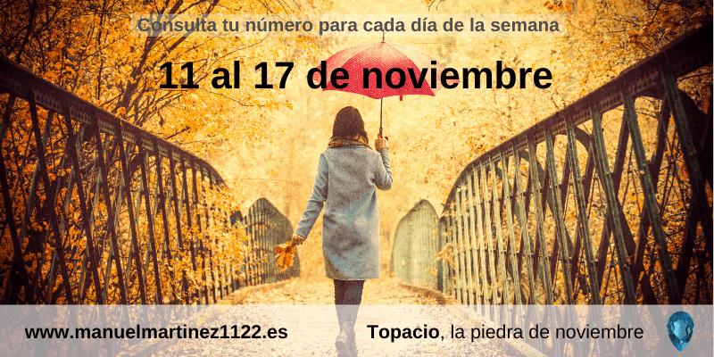 Numerología: Del 11 al 7 de noviembre