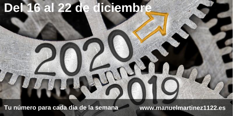 Tu número del 16 al 22 de diciembre - Numerologia en el blog de Manuel Martínez
