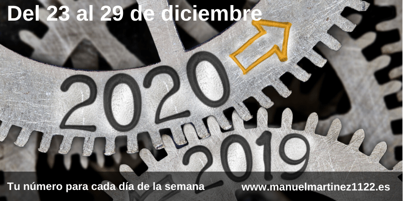 Numero de la semana del 23 al 29 de diciembre - Blog de Manuel Martínez