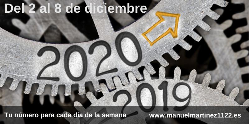 Numerología del 2 al 8 de diciembre de 2019 - Manuel Martínez